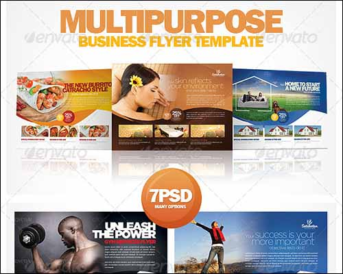 90 best free photoshop psd flyer templates psdreview multipurpose business flyer template wajeb Choice Image