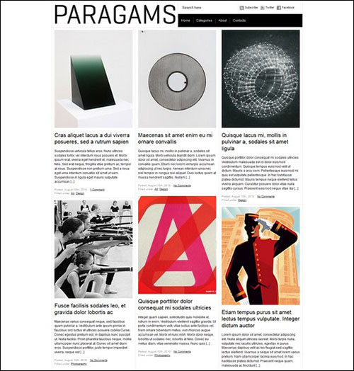 paragrams retro wordpress theme
