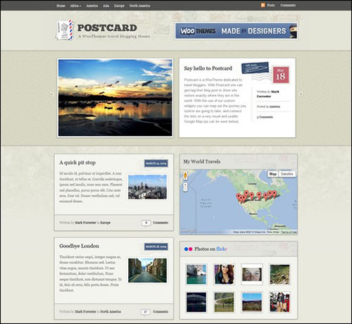 postcard retro wordpress theme