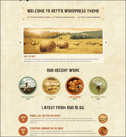 retyx retro wordpress theme