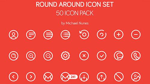 Round Around Icon Set