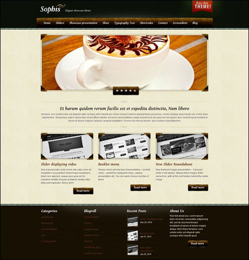 sophis retro wordpress theme