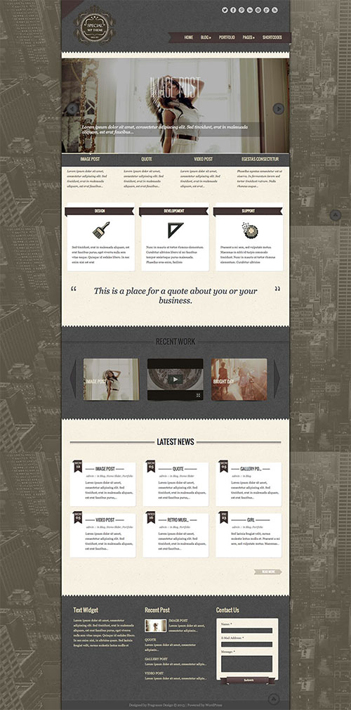 special-wordpress-theme
