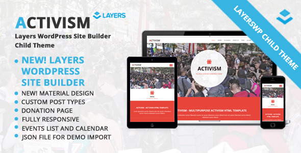Activism-LayersWP-WordPress-Child-Theme