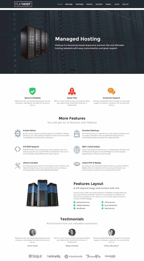 FlatHost-WordPress-Hosting-Theme