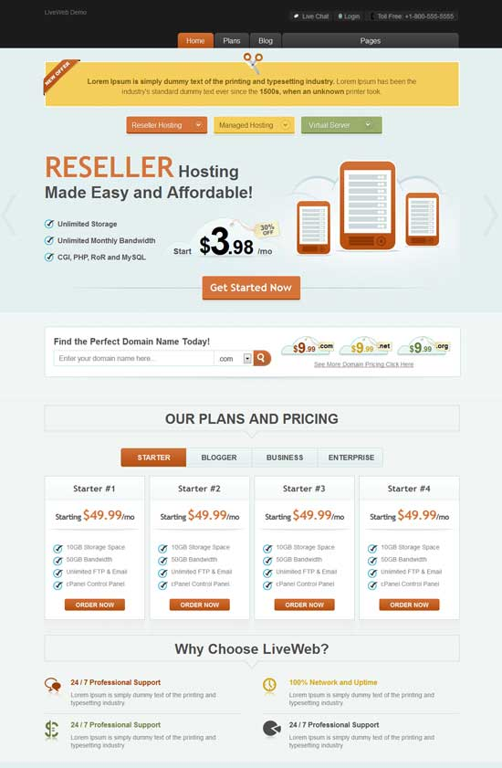 LiveWeb---WordPress-Web-Hosting-Theme