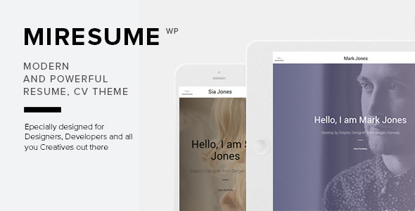 Miresume-Resume-CV-Portfolio-Wordpress-Theme