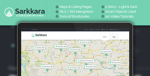Sarkkara-Responsive-Real-Estate-WordPress-Template