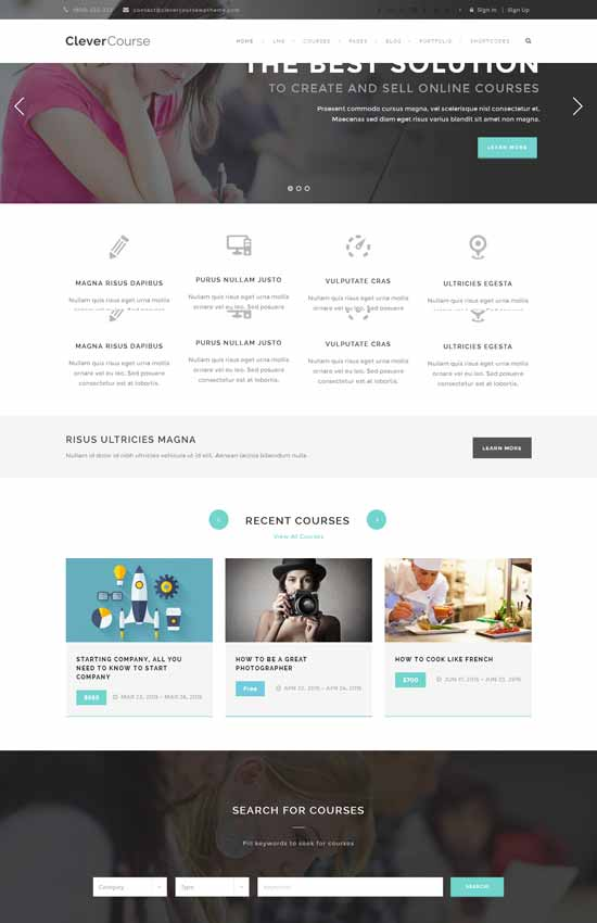 Clever-Course-Learning-Management-System-Theme