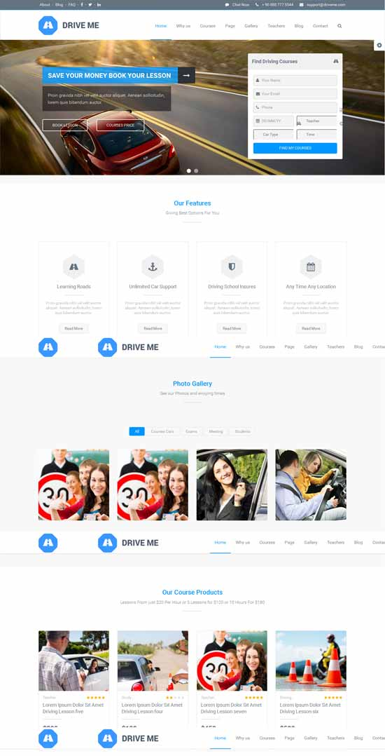 Driving-Class-School-WordPress-Theme