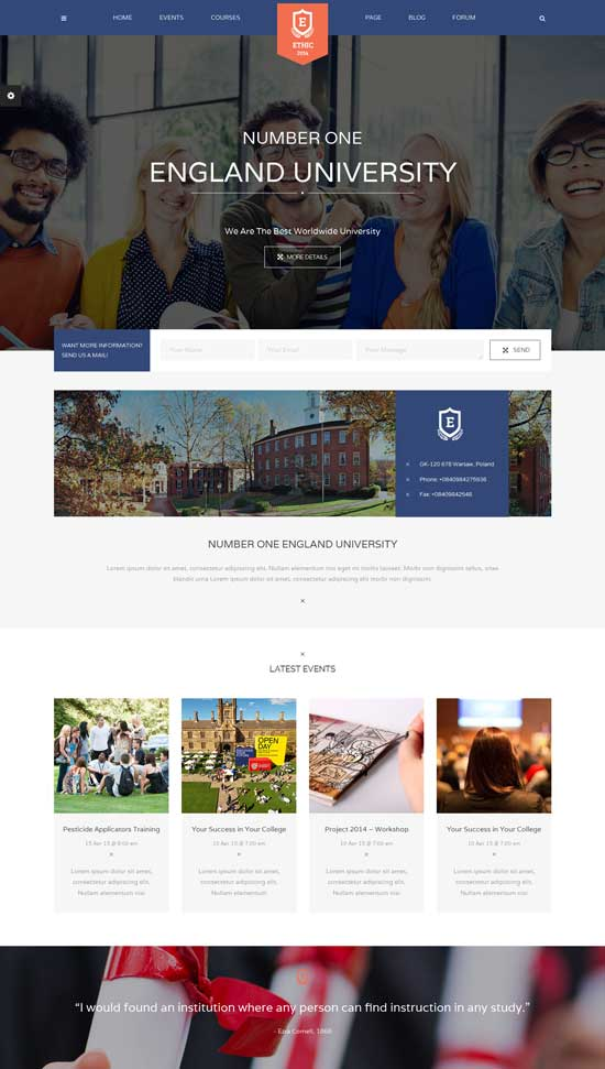 Education-ETHIC-LMS-Theme