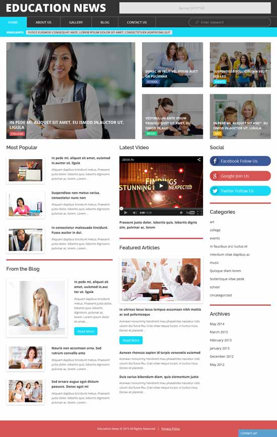Education-News-WordPress-Theme