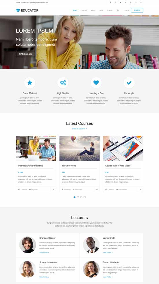 Educator-WP-Learning-Management-System-Theme