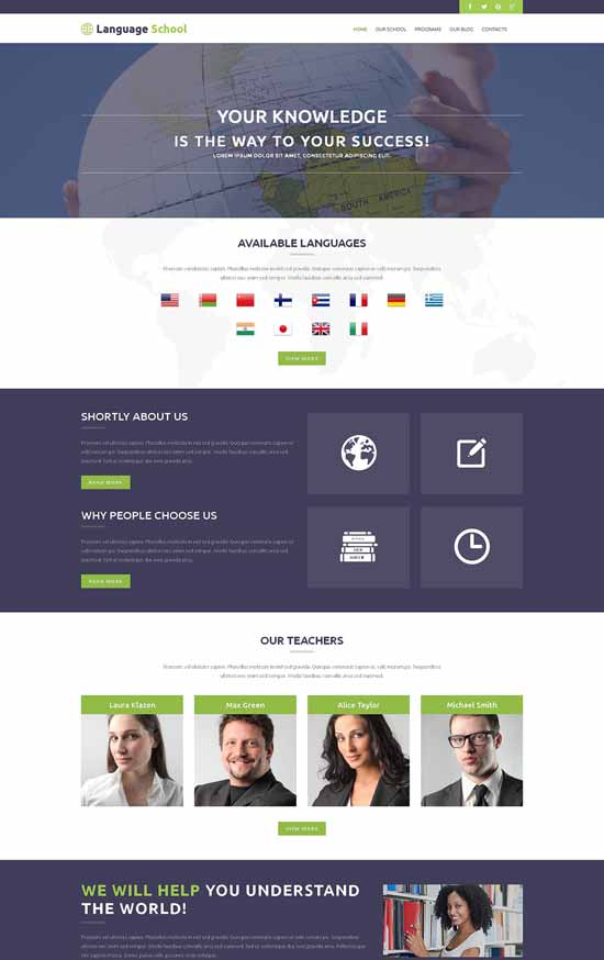 Foreign-Language-School-WordPress-Theme