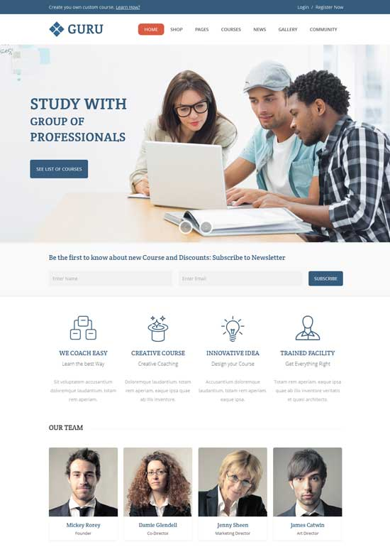 Guru-Learning-Management-WordPress-Theme