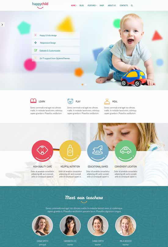 HappyChild-Kindergarten-WordPress-Education-Theme