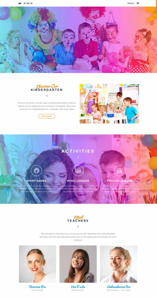 KIDIX-Kindergarten-WordPress-Theme