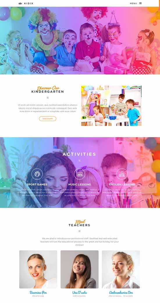 KIDIX-Kindergarten-WordPress-Theme