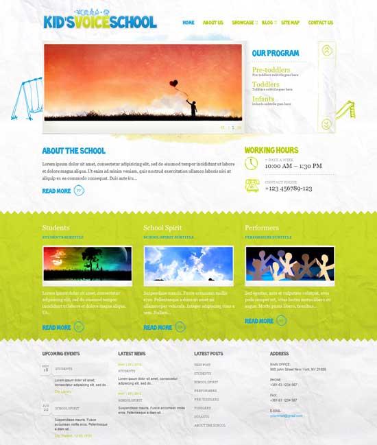 Kid-Voice-School-Responsive-Education-WordPress-Theme