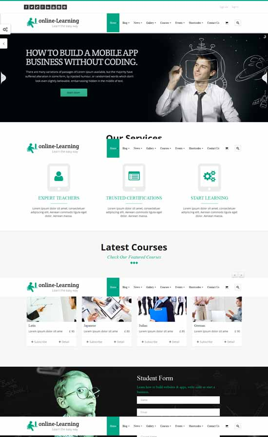 Learning-Management-System-WP-Theme