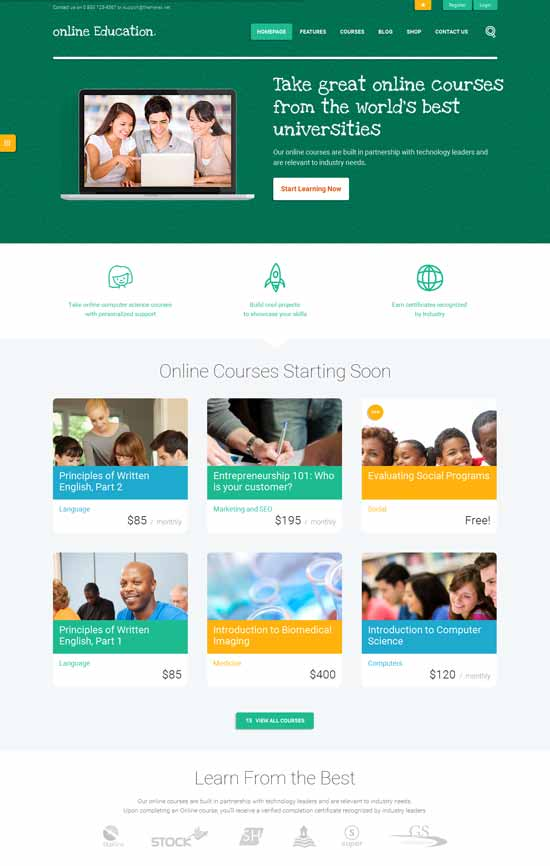 Learning-System-Wordpress-Theme