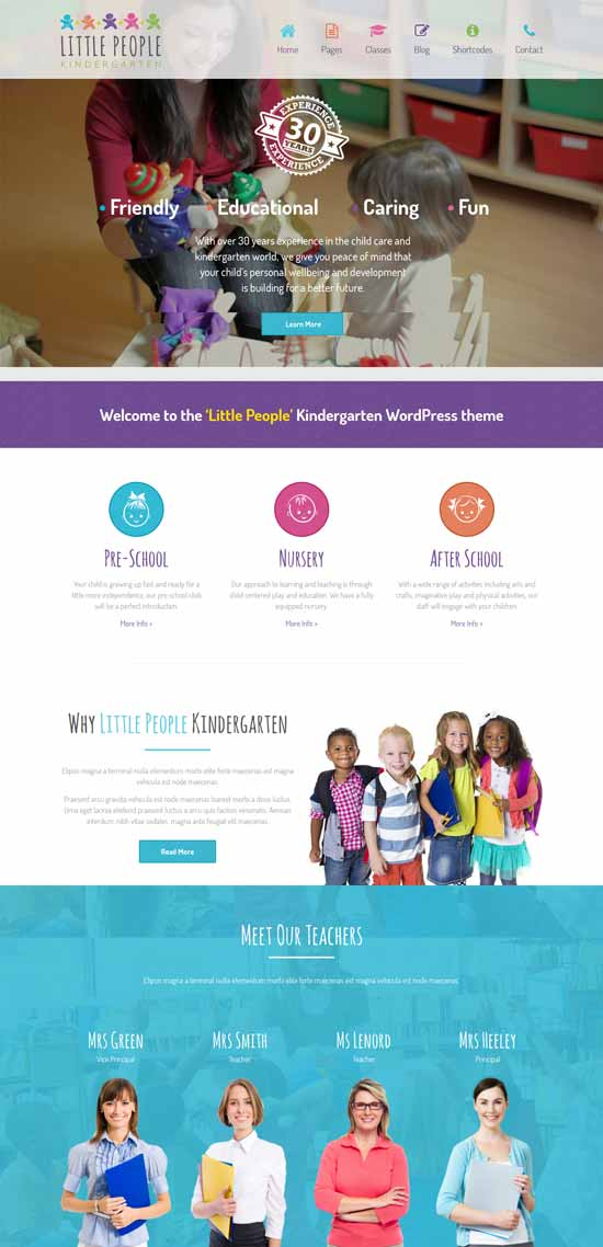 Little-Kindergarten-WordPress-theme