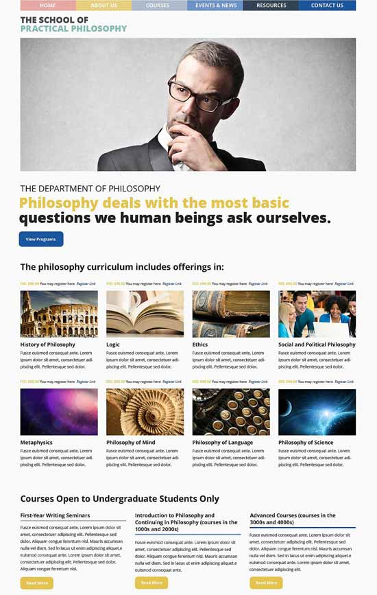 Philosophy-Courses-WordPress-Theme