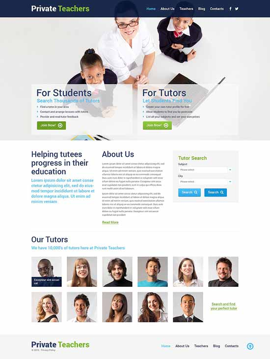 Private-Teachers-WordPress-Theme