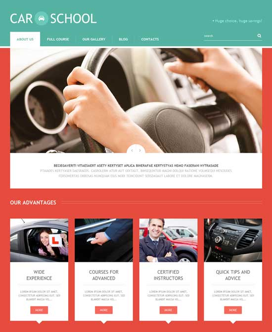Traffic-School-Responsive-WordPress-Theme