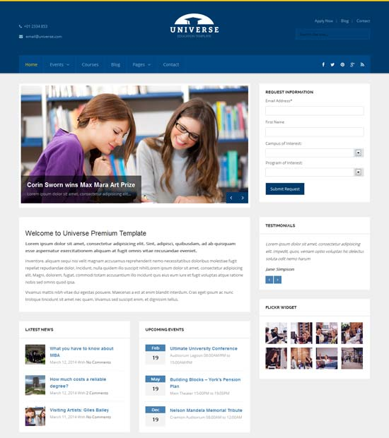 Universe-Education-Responsive-WordPress-Theme