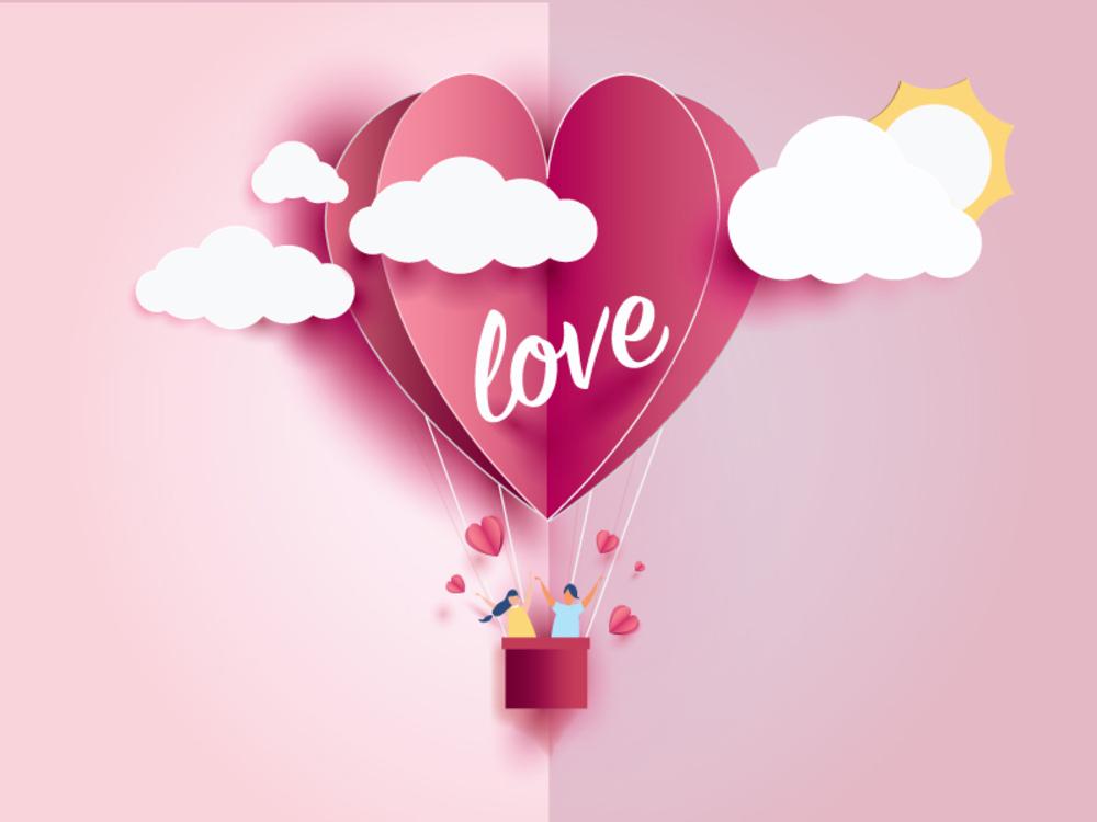 valentine day card love heart 2019