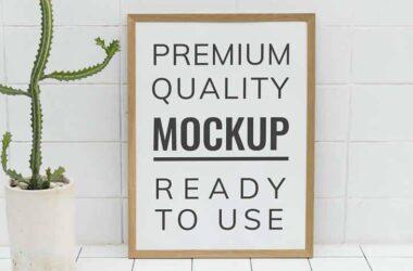 Poster Frame Mockup Photoshop PSD Templates
