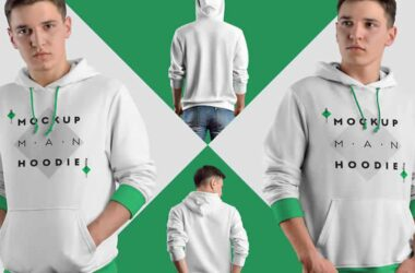 Photoshop PSD Mockup Templates for Hoodies